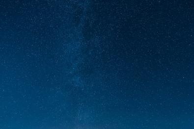 Bjørk under stjernehimmelen